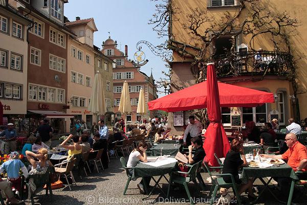 Lindau Bodensee Altstadt Insel Lindau Altstadt Café an