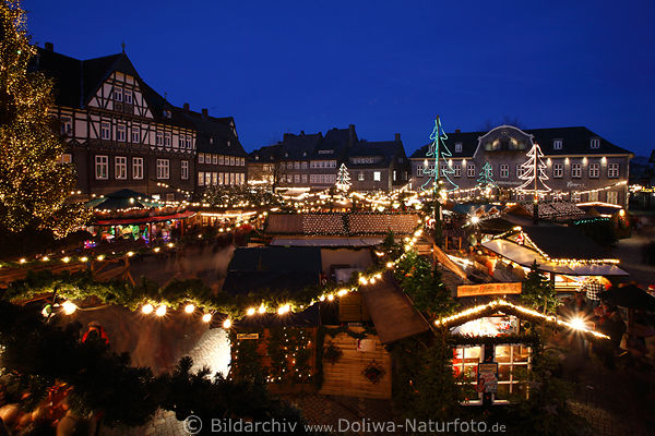 goslar weihnachtsmarkt panorama foto marktplatz. Black Bedroom Furniture Sets. Home Design Ideas