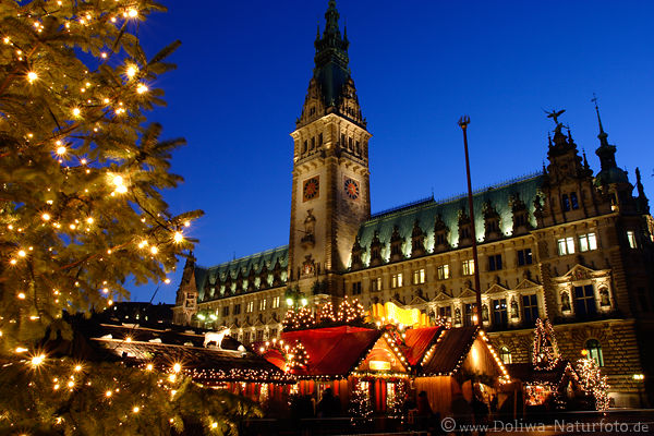 weihnachtsmarkt hamburg adventslichter am rathaus foto. Black Bedroom Furniture Sets. Home Design Ideas