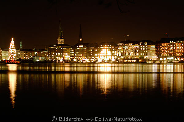 hamburg city lichter nachtpanorama fotos alster. Black Bedroom Furniture Sets. Home Design Ideas