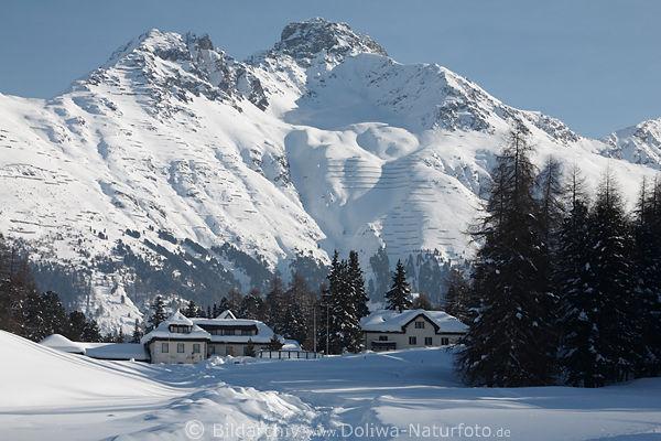 Landhotel Meierei In St Moritz Weisser Natur In Schnee