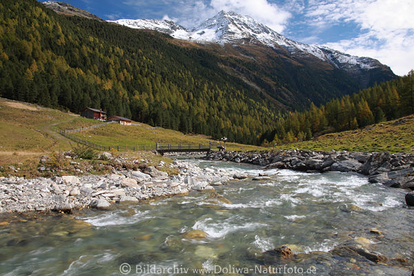 Wasserbach Schwarzach Foto In Oberhaus Alm Alpenlandschaft