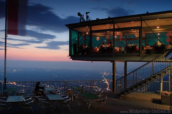 Karren Bergstation Glaspalast Foto Panoramarestaurant In