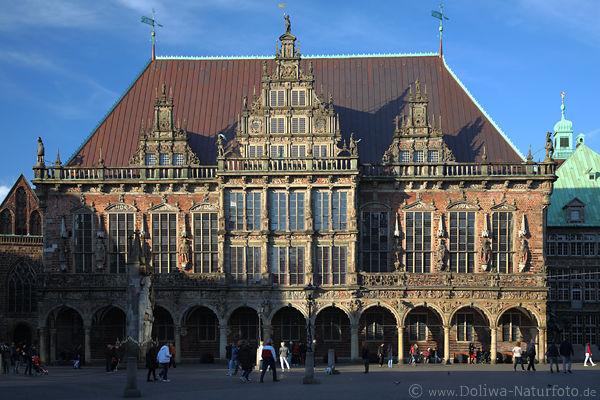 Bremer rathaus fotos historische gotik architektur - Architektur gotik ...