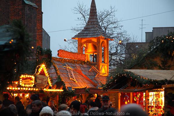 Hannover Weihnachtsmarkt.Weihnachtsschanke Puffer Eck Gluhwein Aventstand Lichter