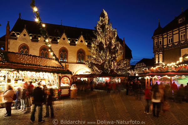 goslar romantische weihnachten foto marktplatz. Black Bedroom Furniture Sets. Home Design Ideas