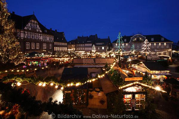 goslar weihnachtsmarkt panorama foto marktplatz. Black Bedroom Furniture Sets. Home Design Ideas
