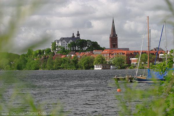 Pl 246 N Stadt Am Gro 223 Er Pl 246 Ner See Segelboote Hafen Schlo 223