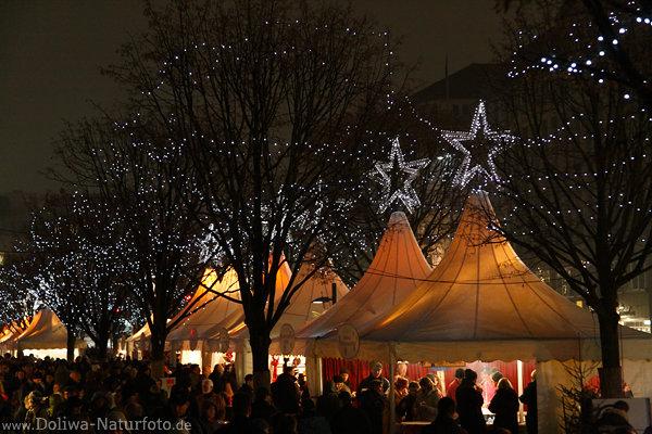 Jungfernstieg Weihnachtsmarkt.Jungfernstieg Weihnachtsmarkt Zelte Silbersterne In Hamburg