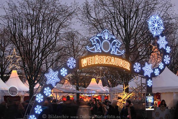 Jungfernstieg Weihnachtsmarkt.Weisserzauber Weihnachtsmarkt Sterne Tor Zelte Hamburg